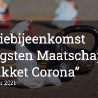 Online Inspiratiebijeenkomst  'Opbrengsten Maatschappelijk Steunpakket Corona'